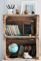 Storage made from old wooden crates
