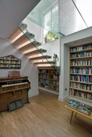 Contemporary reading and music room
