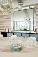 Contemporary dining room detail
