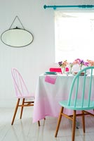 Contemporary dining table and chairs