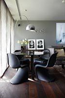 Contemporary open plan dining room