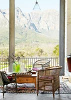 Vintage furniture on balcony