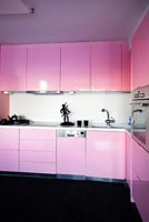 Pink kitchen units