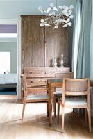 Wooden furniture in dining room