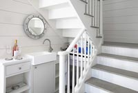 Open plan kitchen and staircase