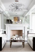 Mirrored chimney breast