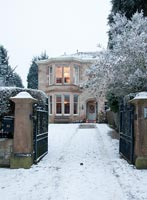 Victorian house in winter