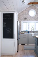 Kitchen unit with blackboard door