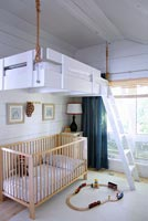 Childs bedroom with bunk beds