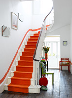 Colourful staircase