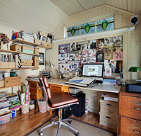 Home office in summerhouse