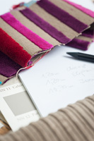 Colour and fabric samples