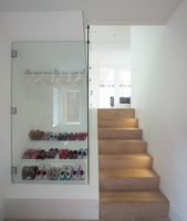 Shoe storage in hall