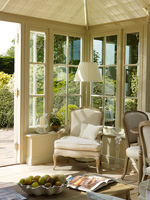 Classic chair in conservatory
