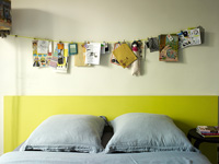 Yellow headboard