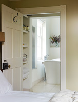 View into ensuite bathroom