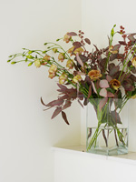 Modern flower and foliage arrangement