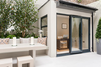 Modern patio garden and extension