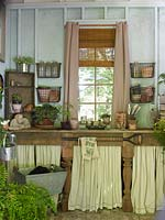 Potting shed interior