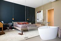 Contemporary bedroom with ensuite