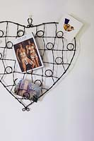 Heart shaped photo storage