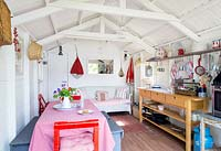Colourful summerhouse interior