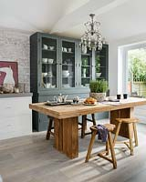 Chunky wooden kitchen table