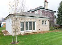 Stone house with extension