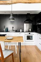 Monochrome kitchen diner