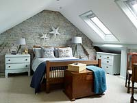 Bedroom in converted loft