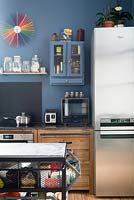 Eclectic kitchen storage