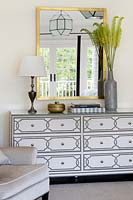 Patterned chest of drawers