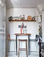 Compact dining area in kitchen corner