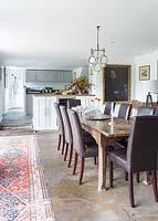Country dining room and kitchen