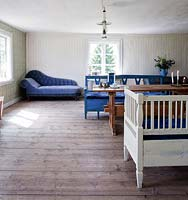 Wooden flooring in dining room