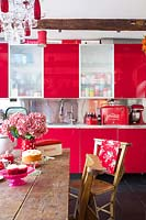 Colourful kitchen diner