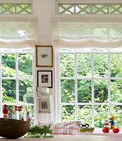 Roman blinds in conservatory
