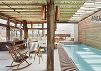 Open plan pavilion and pool