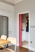 Door into utility room