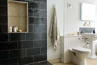 Shower cubicle with built in storage
