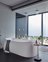 Freestanding bath and double shower