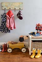 Childrens accessories in hall