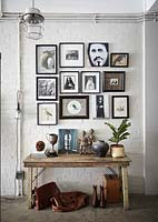 Eclectic art and accessories display