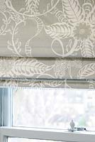 Patterned roman blinds