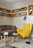 Seating area in study