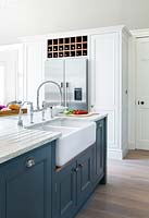 Grey kitchen island units