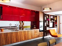 Colourful kitchen units