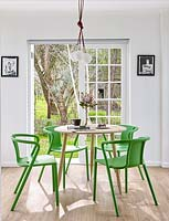 Colourful dining furniture