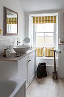 Colourful roman blinds