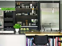 Contemporary kitchen shelving